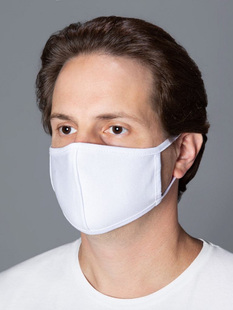 Máscara de Tecido  DUPLO 100% Algodão c/ Cinta de Algodão (50 unidades)