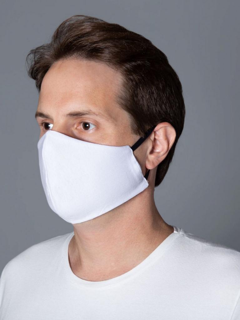 Máscara de Tecido DUPLO 100% Algodão c/ Cinta Elástica (10 unidades)